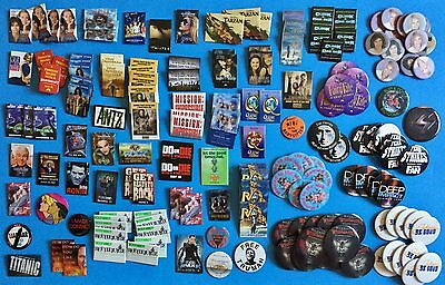 Lot of 165 MOVIE PROMO Pins  - Many different movies / Big names