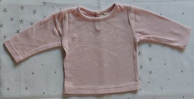 Baby Girls 'My Mummy Loves Me To The Moon & Back' Pink Top Size 3-6 Months BNWOT