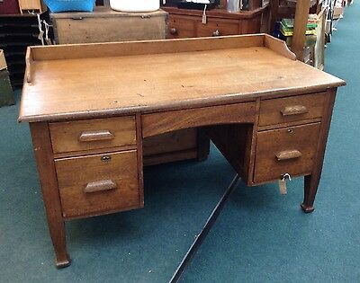 Vintage Golden Oak Desk