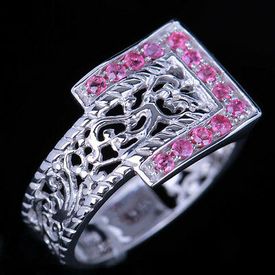 Antique Jewellery Rubies/Semi Mount 10K White Gold Engagement Wedding Fine Rings