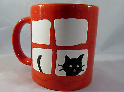 Waechtersbach Cat Mug Red Germany