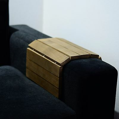 Brown flexible sofa tray from natural wood red wood armrest tray couch tray