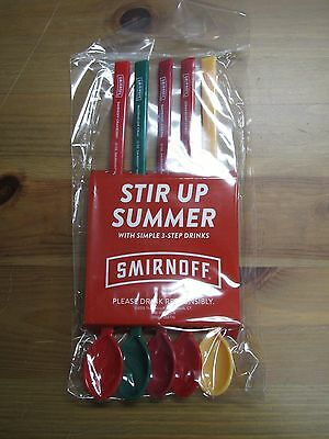 Smirnoff Vodka Mix Drink Recipes Spoons! Brand New! Rare! Perfect For Summer!