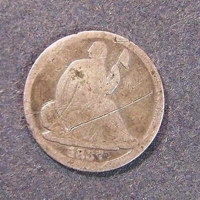 1837 Seated Liberty Half Dime Old US Silver Coin 5c Fast Free Shipping
