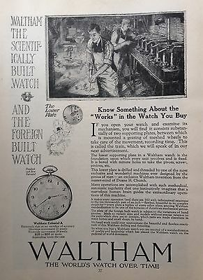 1919 Ad(G2)~Waltham Watch Co. Waltham, Mass.