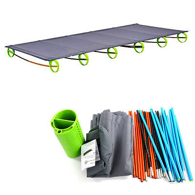 Folding Camping Bed Stretcher Ultralight Camp Cot Portable with Carry Bag
