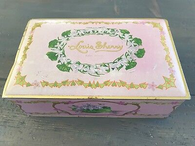 Collectible Vintage Louis Sherry New York Antique Chocolate Candy Metal Tin Box