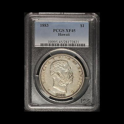 1883 Kingdom of Hawaii Silver Dollar PCGS XF45  - Free Shipping USA