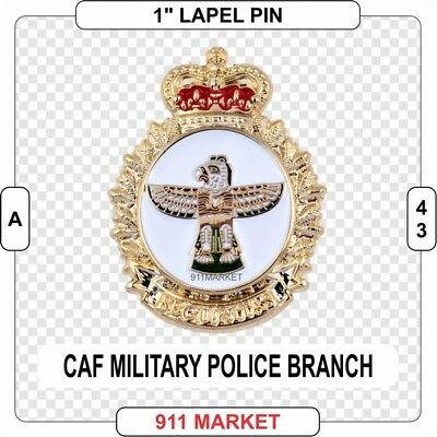 """Military Police Branch 1"""" Lapel Pin Canadian Forces MP Cap Branch Badge CAF A 43"""