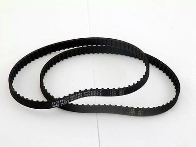 142XL037 Timing Belt 71 Teeth Cogged Black Rubber Toothed Belt Packed 2