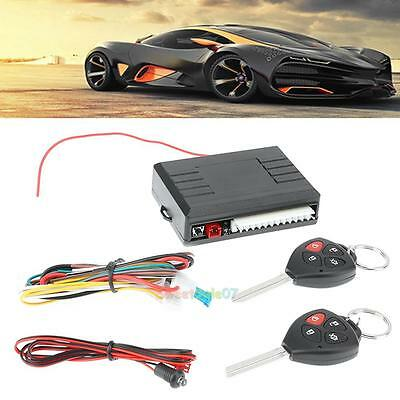 12V Car Auto Vehicle Door Lock Keyless Entry Security System Remote Central Kit