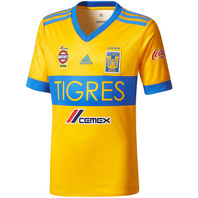 a3b1dd4517b adidas Tigres - Mexico 2017 - 2018 Home Soccer Jersey Brand New Yellow /  Blue