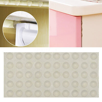 200Pcs Self Adhesive Silicone Rubber Cabinet Door Pad Bumper Stop Damper Cushion