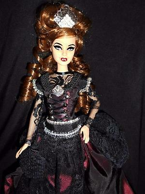 Victorian Gothic Vampire ~ Barbie doll ooak Dracula red auburn Hair curly
