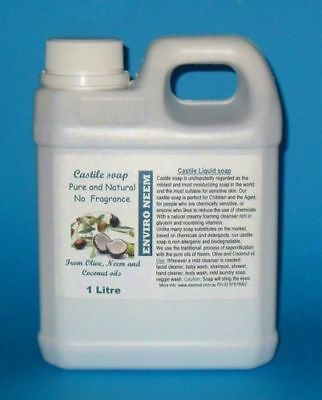 Castile Liquid Soap, Base, Super Thick, Makes 3 to 4 times more, Free Postage