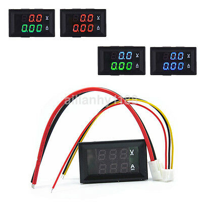 DC 100V 10A LED Digital Volt Amp Current and Voltage Meter Voltmeter Ammeter Hot