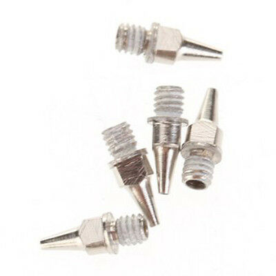 5 Pcs Stainless Steel 0.5 mm Nozzles Replacement for Airbrush V2X1