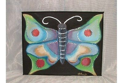BUTTERFLY ~ Hand-Painted Original work Painting.