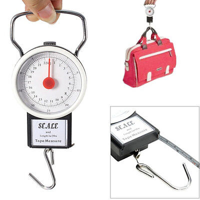 22kg Portable ABS Scale Fishing Hook Said Weighing Kitchen With Tape Measure GT