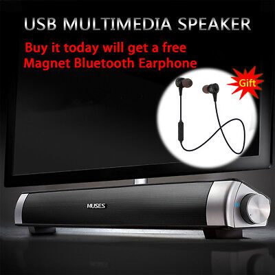 TV Home Theater USB Power Multimedia Speaker System Sound Bar Audio Soundbar