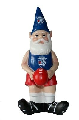 Western Bulldogs AFL Garden Gnome with Red Ball 2017