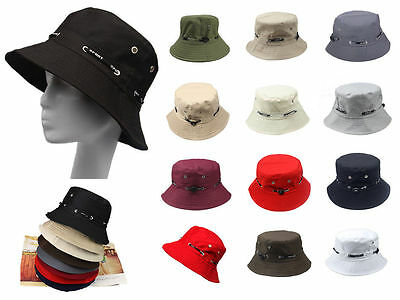 Men Womens Deep Bucket Hat Cotton Fishing Brim Boonie Jungle Hunting Camping Cap