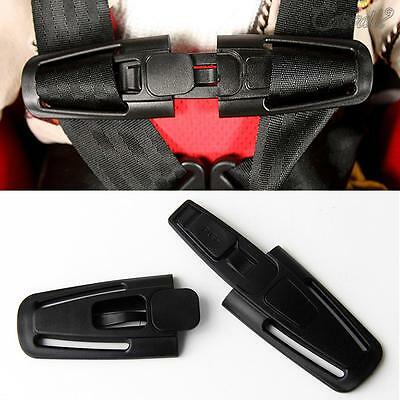 Baby Car Safety Seat Strap Children Toddler Chest Harness Clip Safe Buckle Black