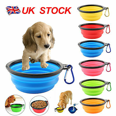 Collapsible Pet Dog Cat Feeding Bowl | Compact Travel Silicone Water Dish Feeder