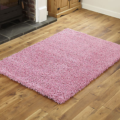 BEST QUALITY SOFT 5CM THICK PINK SMALL AREA RUG SHAGGY 40x60cm SIZE NON SHED RUG
