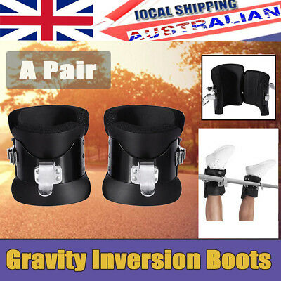 Hot Gravity Inversion Boots Therapy Hang Spine Posture Physio Gym Fitness Sports