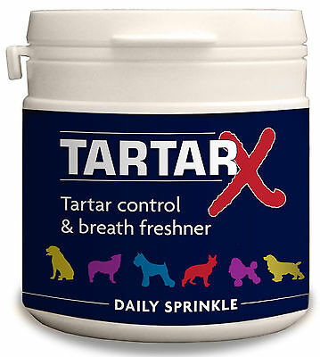 Phytopet Tartar-X 100g Tartar Plaque removal Dog Cat oral health fresh breath