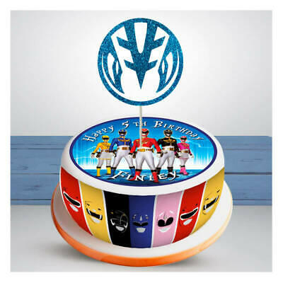 Power Rangers PERSONALISED EDIBLE Icing Cake Wrapper Toppers Round