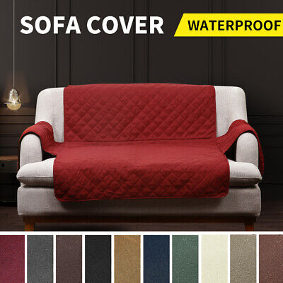 Quilted Sofa Protector Throw Furniture Protector Cover Water Resistant All Size