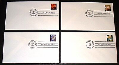 #3454-3457 Flowers Booklet Uncacheted Unaddressed First Day Fdc