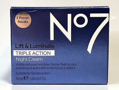 Boots No7 Lift and Luminate Triple Action Night Cream 50ml