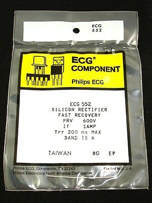 4pcs NOS ECG552 NTE552 1A 600V Fast Recovery Rectifier New in Original Package