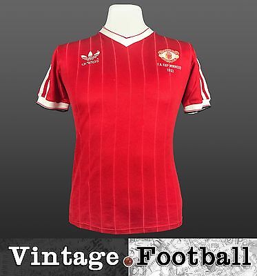 Adidas Manchester United Home Football Shirt 1982-84 (Size: S) MUFC