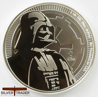 2017 1oz Darth Vader Silver Star Wars 1 ounce Silver Bullion Coin unc: