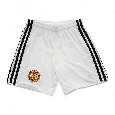 f94686442 Adidas Performance Juniors Manchester United 2017 2018 Home Shorts (White)