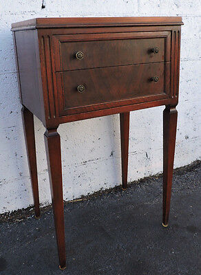 Early 1900s Burl Walnut Nightstand End Table Side Table 8196