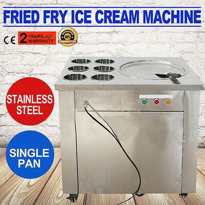 Commercial Fried Ice Cream Machine,1 pan 6 boxes Ice Cream Roll Making Summer CE