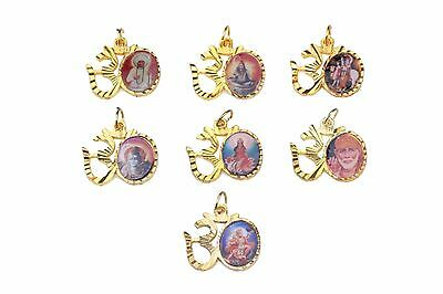 Assorted Hindu God High Quality Gold Diamante Locket/Pendant/Charm/Amulet Small