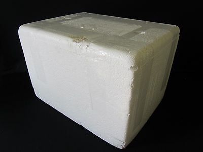 Styrofoam Box Shipping Cooler Insulated Shipping Container Foam White 15""