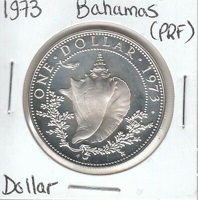 Bahamas 1 Dollar 1973 Silver Circulated