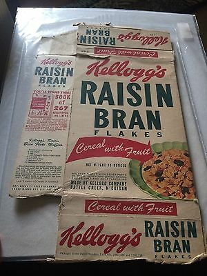 vintage Kellogg's Raisin Bran Cereal box