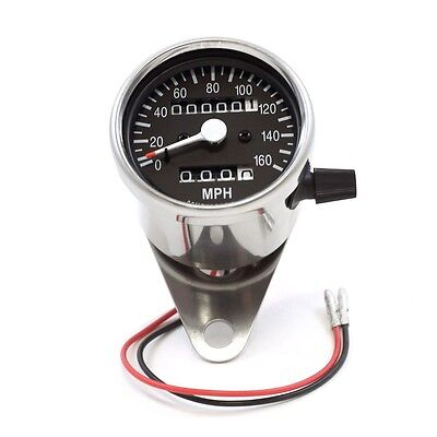 New Speedo Speedometer Head Chrome Compact Design Mph Trip Motorcycle Cafe Racer