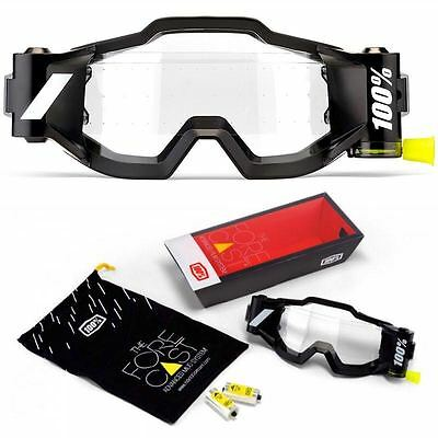 NEW 100% FORECAST Rolloff Goggle SYSTEM 45mm WIDE MX ENDURO MOTOCROSS ACCURI