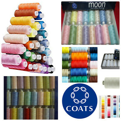Coats Moon Light Assorted Sewing Machine Polyester Thread