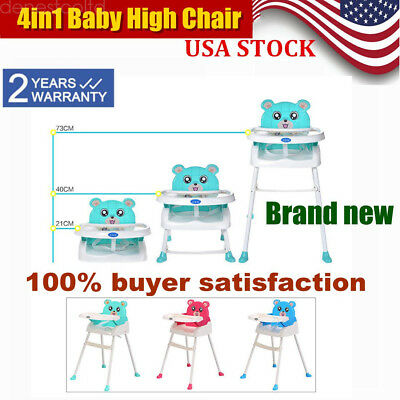 Baby High Chair Convertible Table Seat Booster Toddler Feeding Highchair 4in1