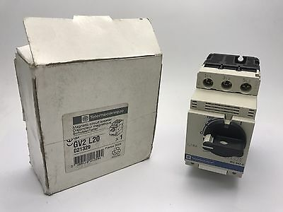 New Telemecanique GV2 L20 Magnetic Circuit Breaker GV2L20 Schneider 021329